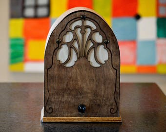 Hi-Fi Bluetooth Stereo Speaker: Miniature Cathedral Wood Radio Receiver Reproduction