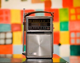 Bluetooth 1960s General Electric (GE) Rechargeable Boombox Radio