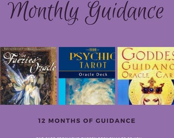 Monthly Reading Subscription, One Card Monthly Oracle Reading, Oracle Card Monthly Reading, Email One Card Tarot Reading, Tarot Reading