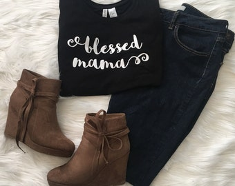 Blessed Mama | Graphic Tee | OnSkinkerLane