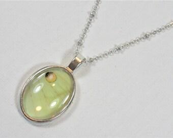 Real Luna Moth Wing Pendant Necklace Actias Luna Antique Silver Finish Jewelry