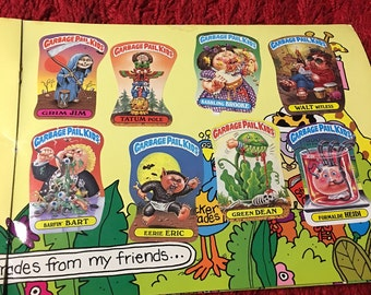 Free Ship! Vintage 1980s CARBAGE PAIL KIDS Sticker Book!