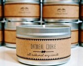 30% OFF // OATMEAL COOKIE Soy Candle. Natural Candle. Scented Candle. Eco Friendly. Vegan Friendly. Fall Candle. Gift for Her.