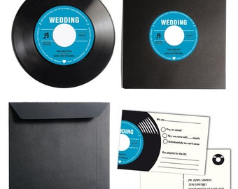 Custom Wedding Invitation Kit made from Vinyl | Invitation Card | Invitation Set | Wedding Cards