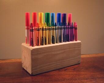Desktop Crayon and Marker Holder