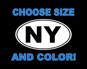 New York Decal NY Car Decal NY State Sticker Window Laptop Wall Bumper Yeti etc.. Love NY Decal
