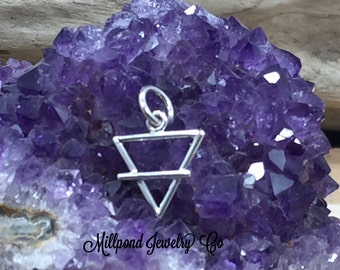 Four Elements Charm, Elements Charm, Earth Element Charm, Sterling Silver Charm, PS01708