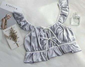 silk like lingerie set
