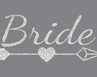 Bride Arrow Iron On Decal