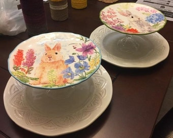 Easter Tiered Plate Platter