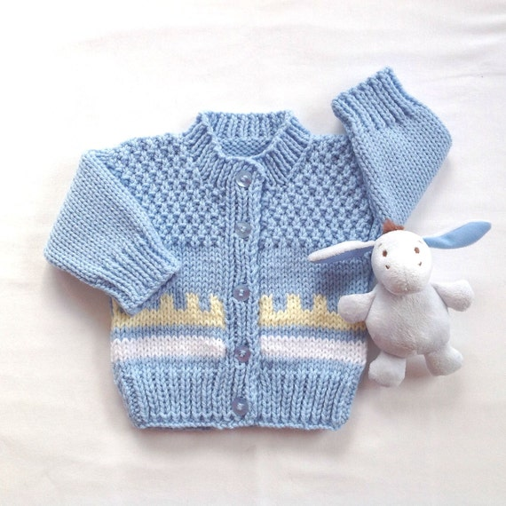 Fair Isle Baby cardigan 0 to 6 months Baby boy sweater