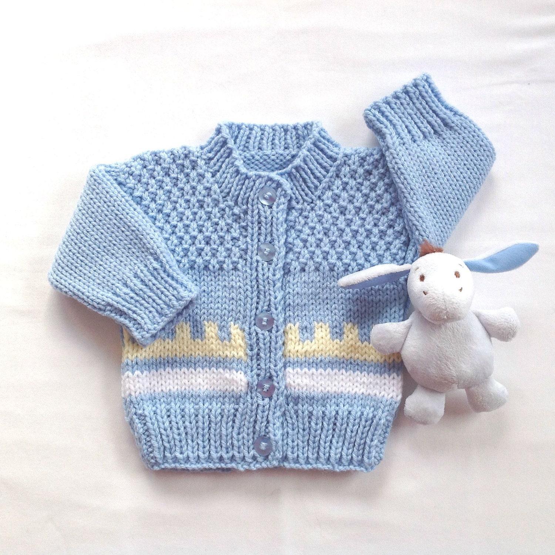 Fair Isle Baby cardigan 0 to 6 months Baby boy sweater