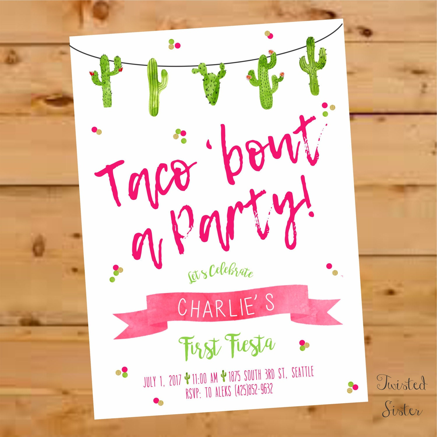 Taco Bout a Party Invitation Taco Bout a Party Invite fiesta