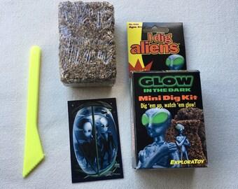 Vintage 1997 ExploraToy Glow in the Dark Alien Mini Dig Kit
