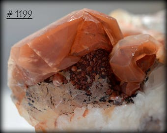 Multi-Generational Red Calcite Crystal Cluster, with Contrasting White Calcite, from Daye County, China