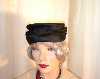 50's Womans  Satin Hat