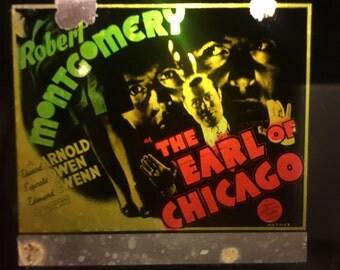 Original 1940 Earl Of Chicago Vintage Movie Glass Slide Robert Montgomery