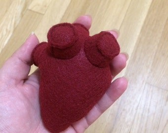 Hannibal inspired small anatomical human heart plush