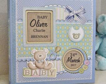 Personalised Baby Photo Album - Baby Gift for New Baby - Christening Photo Album