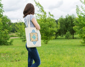 Canvas tote bag - Canvas shopping bag - Cotton canvas - Market bag - Gift for her - Beach bag - Gift for mom - Tote bags for women