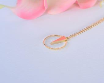 Minimalist Geometric Pendant/Simple Pendant/ Gold Filled Chain