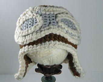 Aviator hat - pilot hat - baby aviator hat - baby pilot hat - toddler aviator hat - aviator goggles - newborn flying hat - adult aviator hat