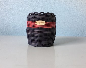 Black basket Hand Woven Basket: Authentic Native American Made decorative storage basket