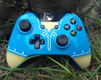 Custom Painted Legend of Zelda:Breath of the wild wireless Xbox one controller 3.5mm