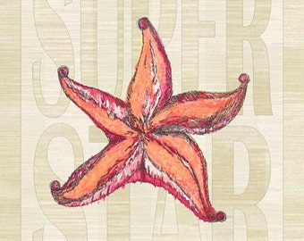 Sun Protected Super Star Starfish Metal Sign Coastal Décor, Beach, Tropical   JP1002SP