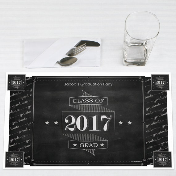 graduation paper placemats Personalized party supplies   add a set of personalized paper placemats for a quick easy stylized table setting with gorgeous designs and patterns,.