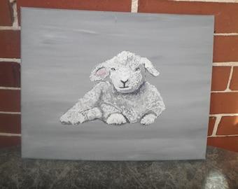 Lamb Nursery Art, #2, 11 x 14