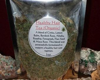 Healthy Hair Tea Blend (Organic)/Hair Growth Assist/Hair Loss/ Organic Herbal Tea Blend