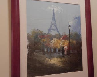 Large Abstract Paris Painting!