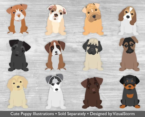 Dog Butt Clipart Cute Pet Butts Funny Puppy Dog Clipart ...