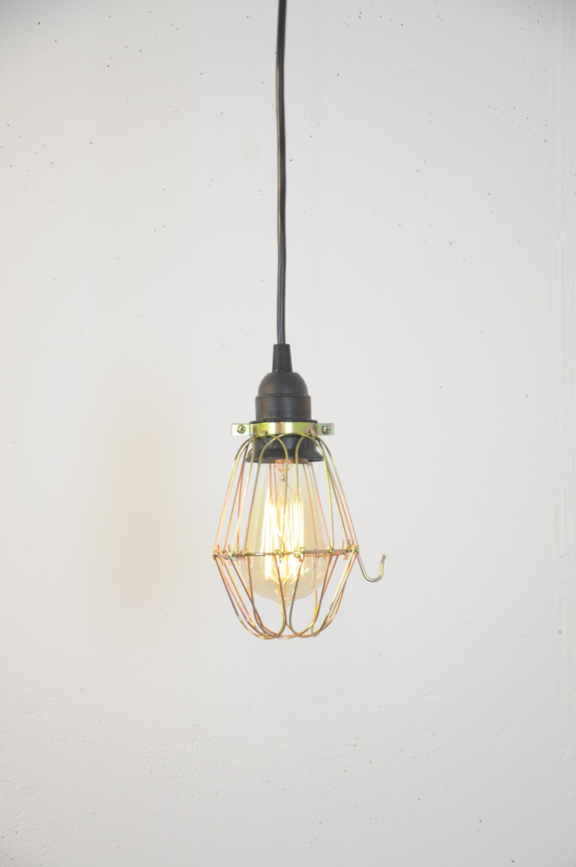 bulb guard lamp light made of brass cage pendant hanging. Black Bedroom Furniture Sets. Home Design Ideas