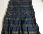 Upcycle Special!: Royal Park Plaid school uniform jumper girls size 4