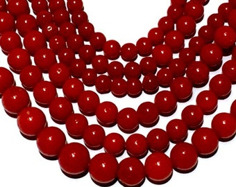 49g! Blood RED no dye natural coral beads Vintage for Necklace bracelet