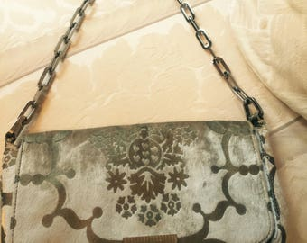 Vintage Gucci velvet chain handle bag