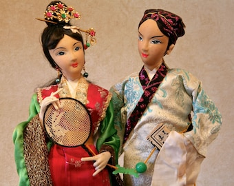 Vintage JAPANESE COUPLE Doll