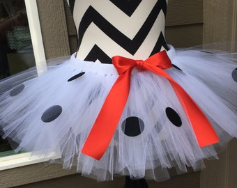 Dalmatian tutu, adult tutu, running tutu, black and white tutu, halloween tutu, running skirt, disney tutu, run disney, marathon tutu, dog