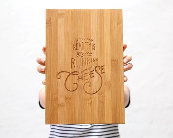 Large Cheese Board Laser Engraved | Serving Platter | Bread Board | Cheese Plate