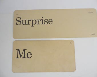Retro Surprise Me Flash Cards - Vintage Vocabulary Word Flash Cards