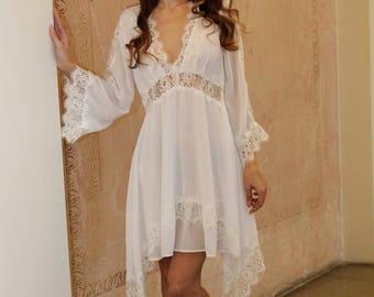 Roman Goddess Summer Dress in Lace