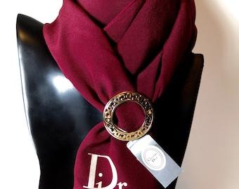 Christian Dior Vintage Logo Scarf Ring