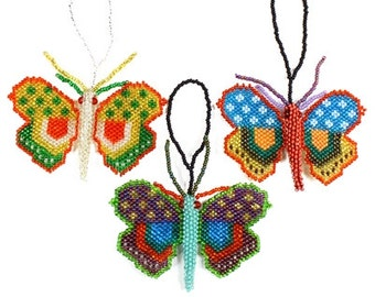 Hand Beaded Butterfly Ornaments