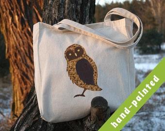 owl, Owl Tote Bag, Owl Bag, Canvas Bag, Owl Art, Owl Tote, Owl Decor, Eco Bag, Cotton Tote Bag, Animal Tote, Animal Tote Bag, Forest Tote