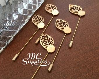 5 pcs,Lapel pins,blank pins,gold lapel pins,metal lapel pins,stick pins,brooch pin,blank pins,lapel pin clutch,groom brooch,DIY pin.
