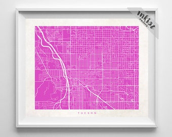 tucson map arizona print tucson poster arizona art nursery posters artwork - Home Decor Tucson