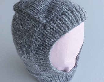 Baby clothes  / baby balaclava / baby boy's clothes / grey balaclava / baby hat / 6-9 months / baby boy gift / baby shower gift