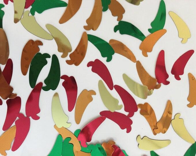 Chili Pepper Confetti, HUGE amount of Red, Green, Orange and Yellow Confetti, Chili Peppers, Party Confetti, Cinco De Mayo Party Decor